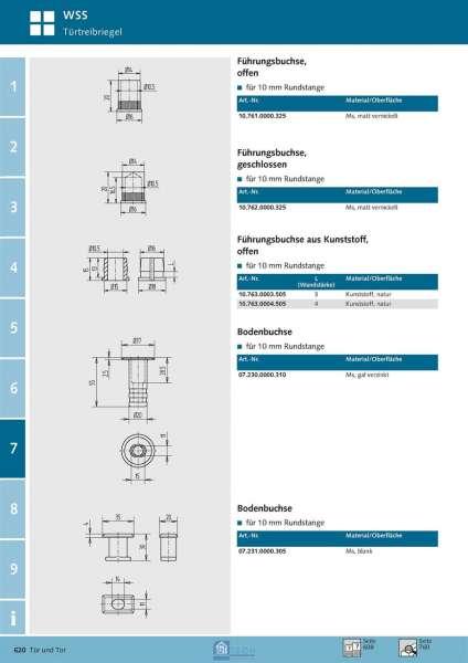 Bodenbuchse - WSS 07.230.0000.310