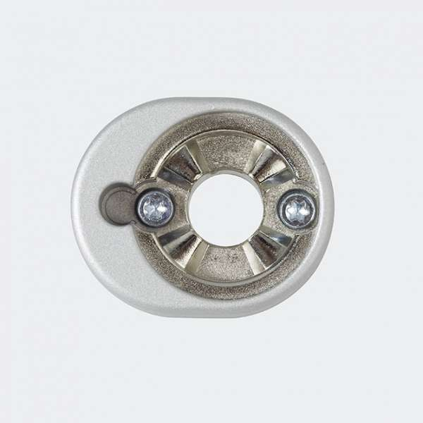 SCHÜCO 247131 RC Befestigungsrosette abschliessbar Silver-Look