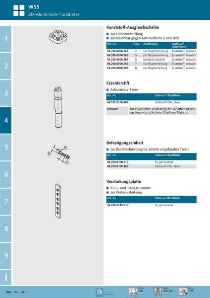 Kunststoff-Ausgleichscheibe 4 mm - WSS 04.200.0400.565
