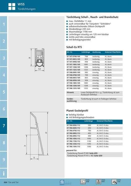 Planet-Sockelprofil 850 mm - WSS 07.780.0850.112