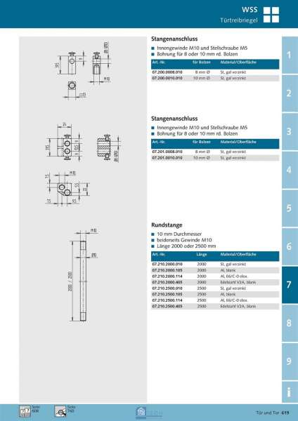Rundstange 2500 mm lang - WSS 07.210.2500.010